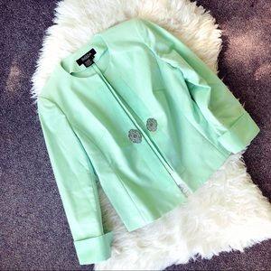 { PECK & PECK } Mint Green Blazer